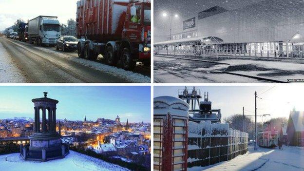 Snowy composite