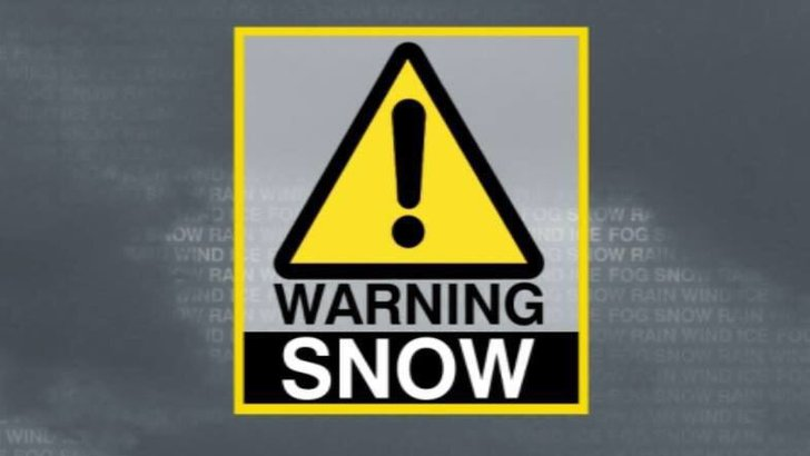 Snow warning