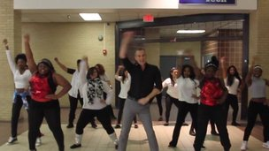 A. Maceo Smith New Tech High School's Uptown Funk dance