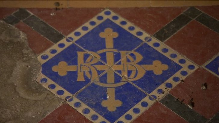 Victorian tiles at Norton Priory in Runcorn