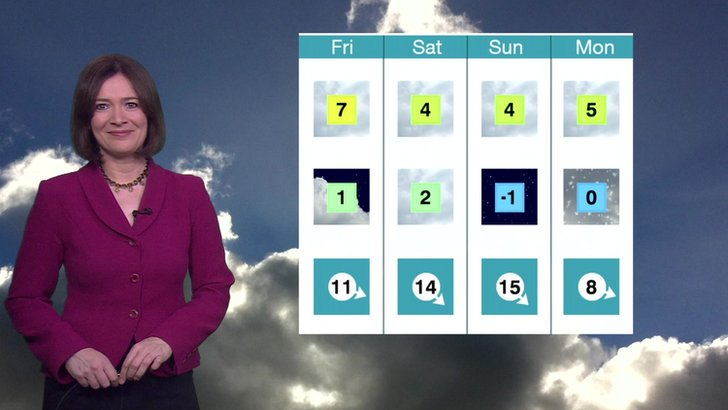 Alina Jenkins with the London weather forecast