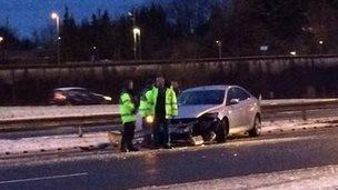 M62 accident