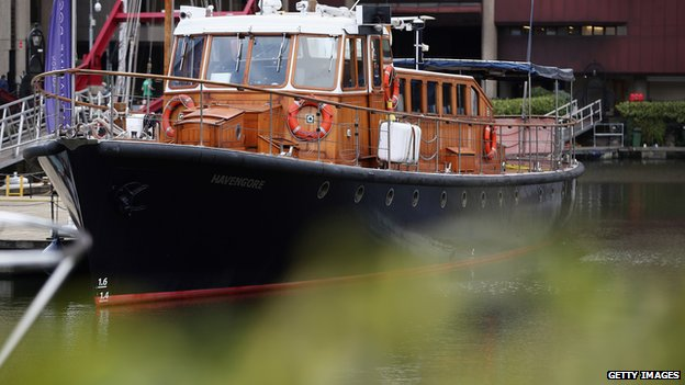 The Havengore docked in London