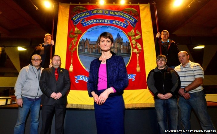 Yvette Cooper MP and NUM representatives