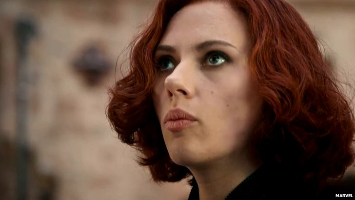Scarlett Johansson in the trailer for Avengers: Age of Ultron
