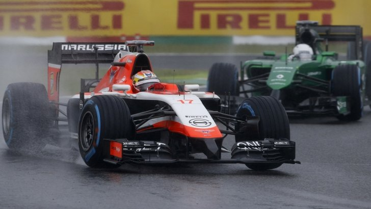 Marussia and Caterham F1 cars