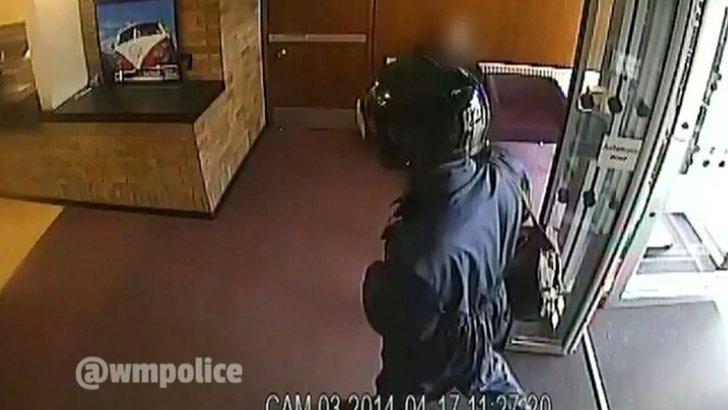 Gregory Dike raiding a bank