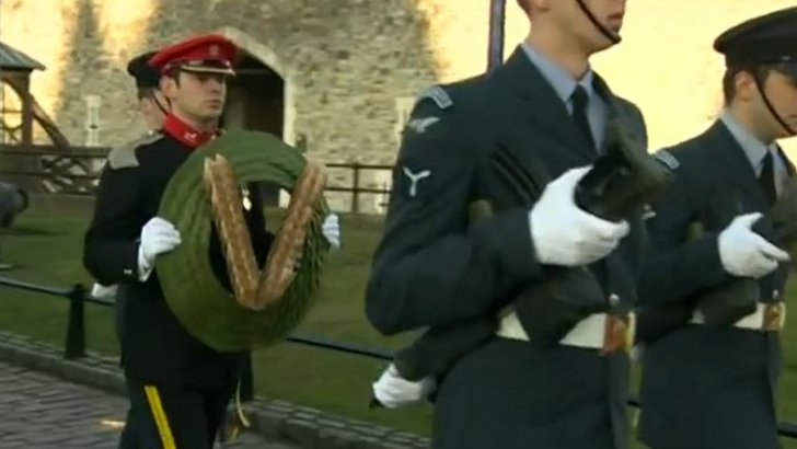 Wreath carried from Tower of London to Havengore