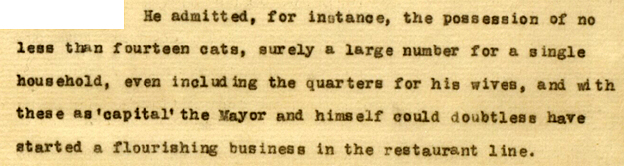 Segment of the document about the 14 cats