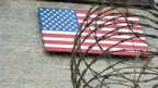 US flag at the US Naval Base in Guantanamo Bay, Cuba