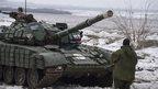 Rebel tank near Debaltseve, 29 Jan 15