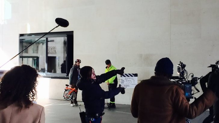 Filming W1A