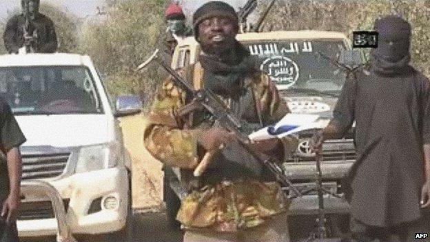 Abubakar Shekau delivers a video message after Baga attack