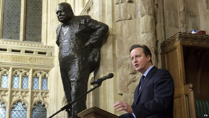 David Cameron at Churchill ceremony