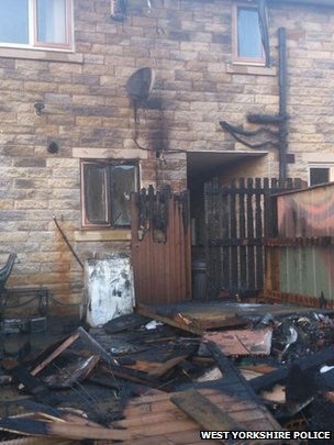 Arson attack on property in Denby Dale