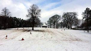 Sledging in Leek's Brough Park