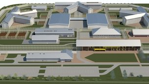 "Artist impression of the ""super prison"""
