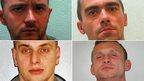 (From top left clockwise) Pawel Honc, Mariusz Tomaszewski, Oskar Pawlowicz,  and Dawid Tychon,