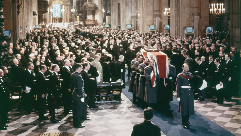 Churchill funeral at St Paul's cathedral