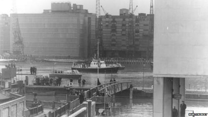 Sir Winston Churchill funeral barge
