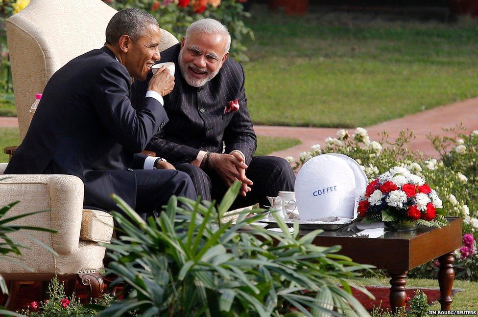 US President Barack Obama and India's Prime Minister Narendra Modi
