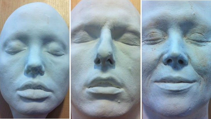 Face masks of Angelina Jolie, Tom Cruise and Sigourney Weaver