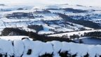 Snow covered fields in High Bradfield, as Britons were warned to brace themselves for fresh disruption today as snow freezes over, bringing potentially perilous road conditions