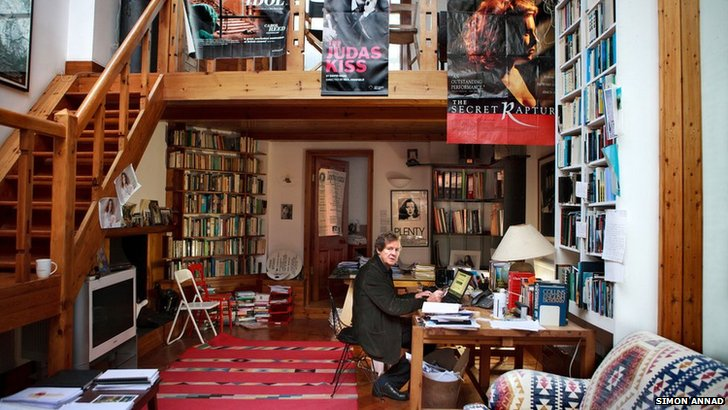 David Hare in his writing room