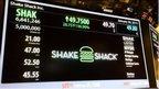 Shake Shack trading on NYSE