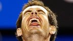 Andy Murray of Britain celebrates defeating Tomas Berdych of Czech Republic