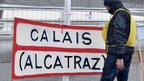 A sign reading Calais (Alcatraz)