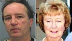 Patrick Curran (left), murderer of Joan Roddam (right). Pic: Devon and Cornwall Police