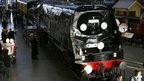 "The funeral train ""Winston Churchill"" that carried Britain""s wartime leader Winston Churchill on his final journey from Waterloo to Oxfordshire, is displayed at the National Railway Museum in York, northern England January 30, 2015"