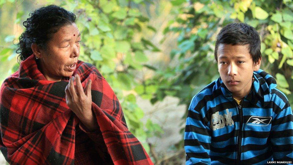 Sanu Kanchhi Thapa (left) and son Suraj
