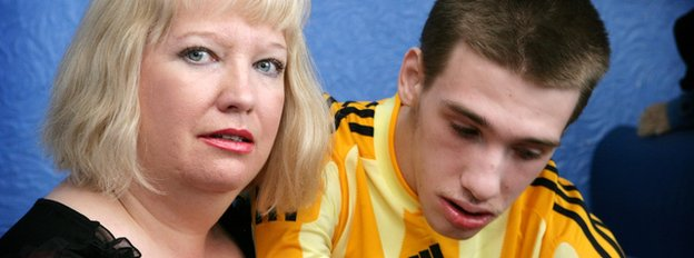 Sharon Bernardi and her son Edward, who died last year aged 21
