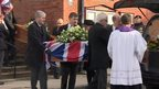 The funeral of Bernard and Irene Jordan