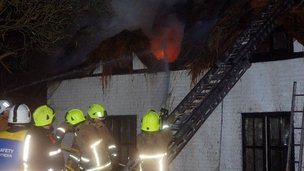 Crews from Berkshire, Oxfordshire and Wiltshire fought the fire