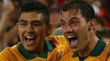 James Troisi of Australia celebrates the winning goal