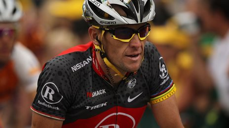 Lance Armstrong in action during the 2010 Tour de France