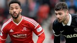 Aberdeen defender Shay Logan and Dundee United's Nadir Ciftci