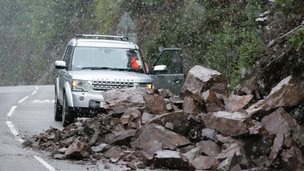 Landslide on A82