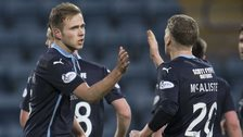 Greg Stewart (left) equalised late for Dundee