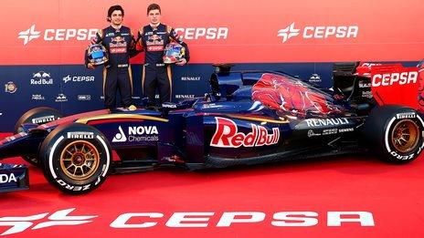 Carlos Sainz, Max Vertappen and the Toro Rosso STR10