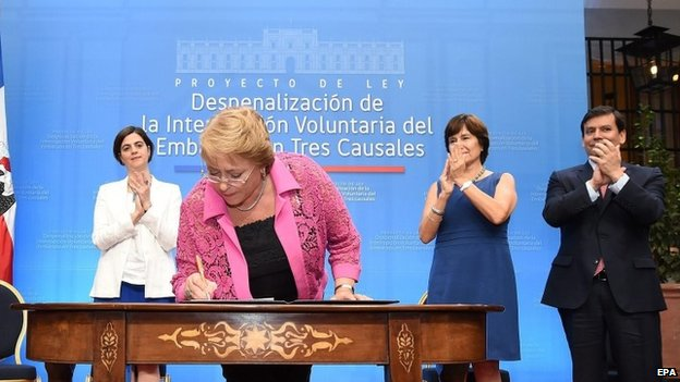 Chile proposes to end abortion ban...