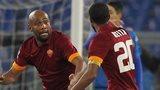 Maicon celebrates a goal for Roma
