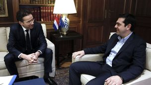 Jeroen Dijsselbloem meeting Alexis Tsipras - 30 January