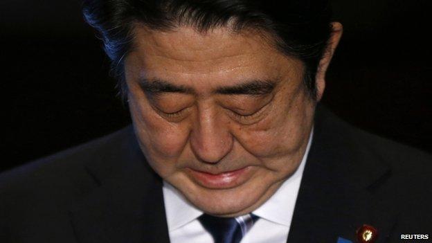 Japanese PM Shinzo Abe, 1 February 2015