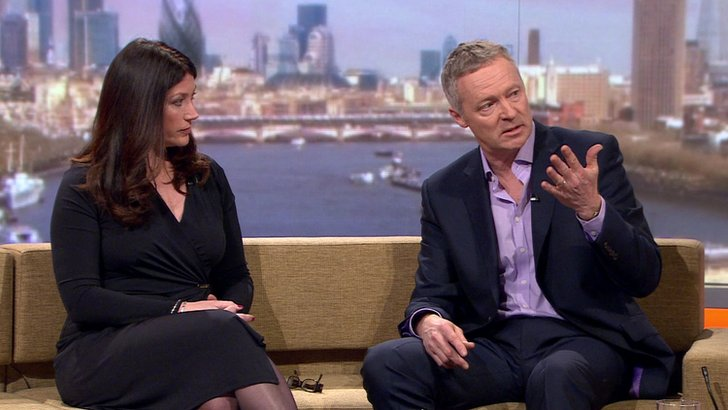 Sun on Sunday editor Victoria Newton and impressionist Rory Bremner are doing the paper review to get The Andrew Marr Show under way