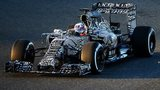 Red Bull unveils its new car for 2015 at pre-season testing in Spain