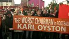 Blackpool fans protest